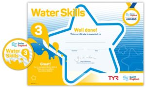 water skills 3 badge & certificate